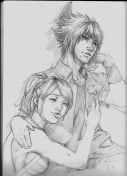 Noctis and Luna by ArtistNtraininG