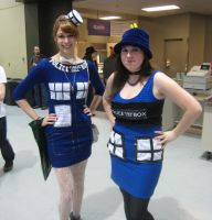 Twin Tardises by SpideyzGirl