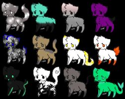 Adoptabels Cats  #2 Closed Free by Toothless2000