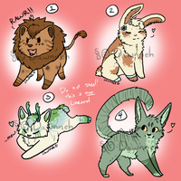 Adoptables -Auction- by Dawnneh