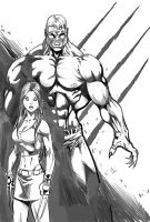 Sabretooth and X23 2 by RodneyCJacobsen