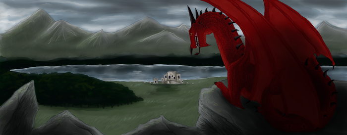 Welsh dragon by AMEcco