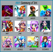 A Year Worth Of Art 2012 by littlecheese
