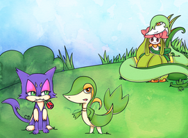 Pokemon collab with ChaosDisclosed by tsaaif