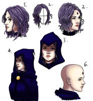 Evan Rachel Wood as Raven sketches by Art-Gem