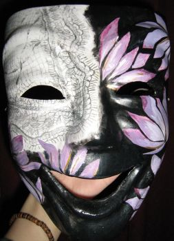 Purple and Lace mask by jessicacatherine