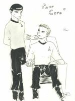 Kirk and Spock, Star Trek by satanpetiteflore