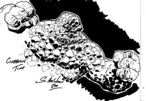 The Thing: Ben Grimm sketch by ShawnAtkinson