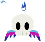Invisible skull Chao Greetings by sheenathehedgehog