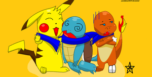 pikachu,charmander,and squirtle::request:: by pandabear0223