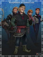 Kristoff - Frozen Free Fall by JhonyHebert