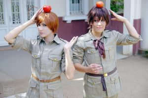 Hetalia - Spain and Romano by Pandora-Hazel