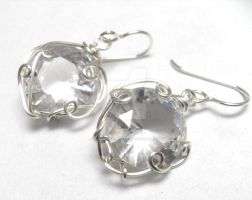 Custom Cubic Zirconia Earrings by sojourncuriosities