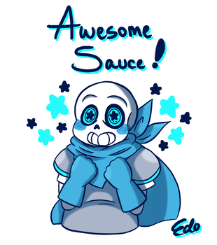 Underswap! Sans - Awesome Sauce! by EdoBean