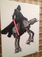 Darth Vader Riding AT-AT by kriminalrx