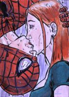 Spidey and MJ Sketch Card by shinlyle