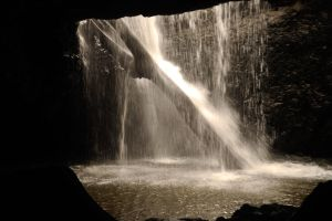 Natural Arch / Waterfall Out of Ceiling Stock 2 by naturalhorses