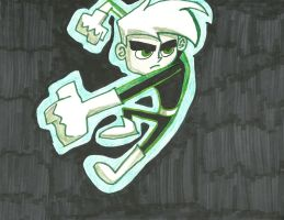 Danny Phantom--Green by maxwillflyonwings