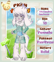 PKMN-Street App = Alex the Furfrou by CaramelCreampuff