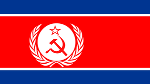 Korean USSR Hybrid Flag by MrAngryDog
