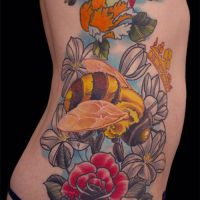 Bumble Bee Tattoo by Origam-e