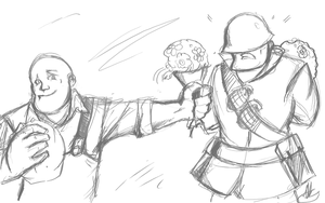 Solly + Engie Sketch Commision by LittleMeesh