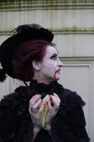 Stock - Vampire blood woman gothic baroque side by S-T-A-R-gazer