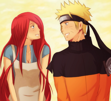 Kushina and Naruto by missxdelaney