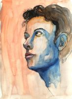 First Watercolor Portrait by CharlotteHarlot