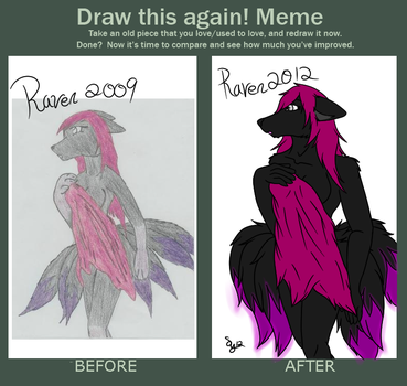 Then and Now Raven by Raven-7-tail-kitsune