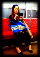 DS gamer on Tokyu Line by akiba16