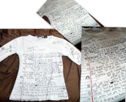 Lined Paper T-shirt by RaheHeul