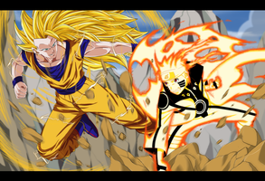 Commission - Naruto VS Goku by dannex009