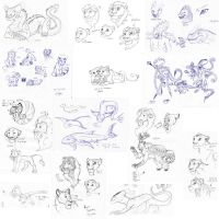 MASSIVE Sketch Dump by Saphia-Xeno