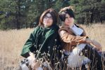 Aot : hanji and Levi by ChibiExorcistLiz