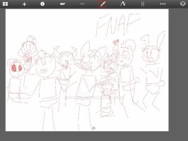 WIP- Five nights at freddys by S-K-Y-L-I
