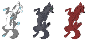 .:Wolf Adoptables:. by Mugsh0t