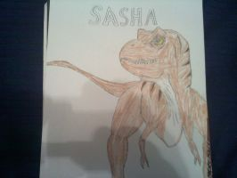Second Zombies OC: Sasha the T-Rex by ZombieFighter116