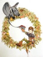 Toothless and Hiccup by SilviaShi