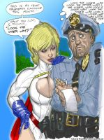 Power Girl, Cop by Adam Hughes by powerbook125