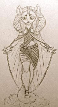 queen Saun sketch by TheSphinxThinks