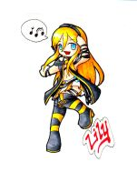 Vocaloid Lily Chibi by FuyusFox