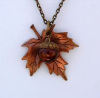Gathered Nature Necklace by FusedElegance