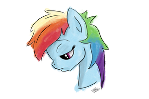 Sad rainbow dash is sad D: by s1n0x