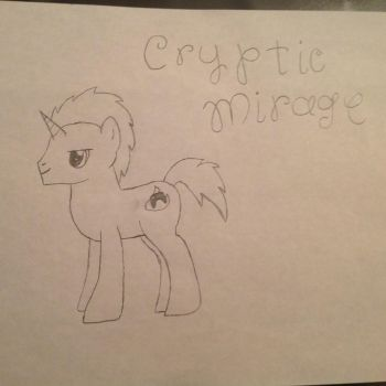 Cryptic Mirage Drawing by FalconPilot1