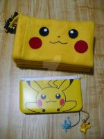 pikachu pouch cover or case for 3ds xl by BlueValkyrie