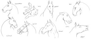 Hell Horse Emotes by PeacefulSeraph