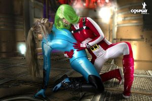 Samus Aran in trouble by cosplayerotica
