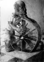 dwarf pushing the wheel by kebek