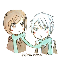 hitsuhina: let's stay warm by Nekuri-kun